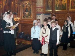 Детский хор в храме Преображения Господня, г. Люберцы